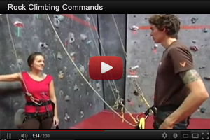 Click Here for Video Information on Standard Communication Commands for Rock Climbing.